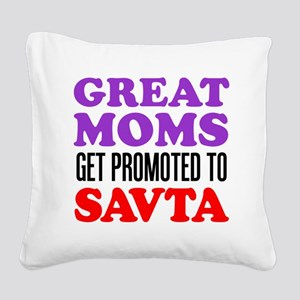 Moms Promoted To Savta Square Canvas Pillow