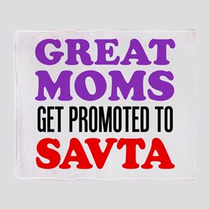 Moms Promoted To Savta Throw Blanket