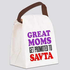 Moms Promoted To Savta Canvas Lunch Bag