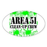 Area 51 Clean-Up Crew Oval Sticker