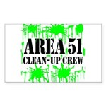 Area 51 Clean-Up Crew Rectangle Sticker 10 pk)