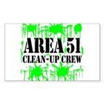 Area 51 Clean-Up Crew Rectangle Sticker 50 pk)