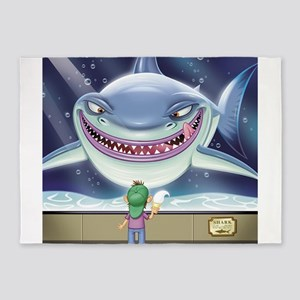 Hungry Shark 5'x7'Area Rug