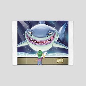 Hungry Shark 5'x7'Area Rug