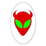 Evil Alien Sticker (Oval 10 pk)