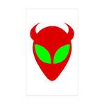 Evil Alien Sticker (Rectangle 10 pk)