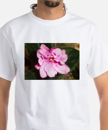 African Violet White T-Shirt