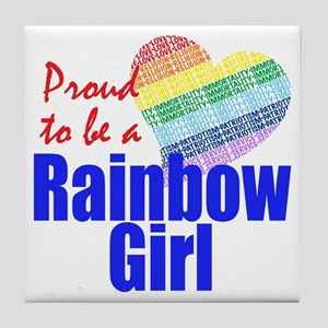 Rainbow Girls Tile Coaster
