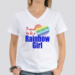 Rainbow Girls Women's V-Neck T-Shirt