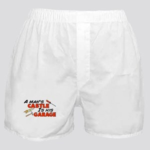 A man's castle garage Boxer Shorts