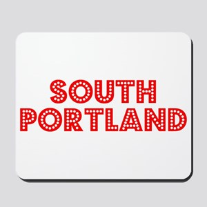 Retro South Portland (Red) Mousepad