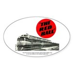 A fast freight train Oval Sticker