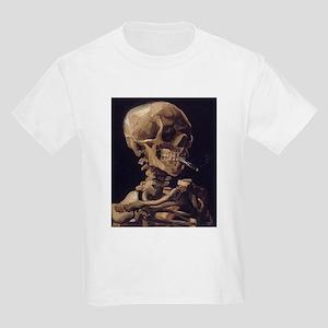 Van Gogh Skull Kids Light T-Shirt