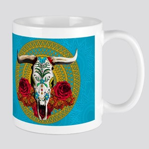SUGAR COW SKULL Mugs