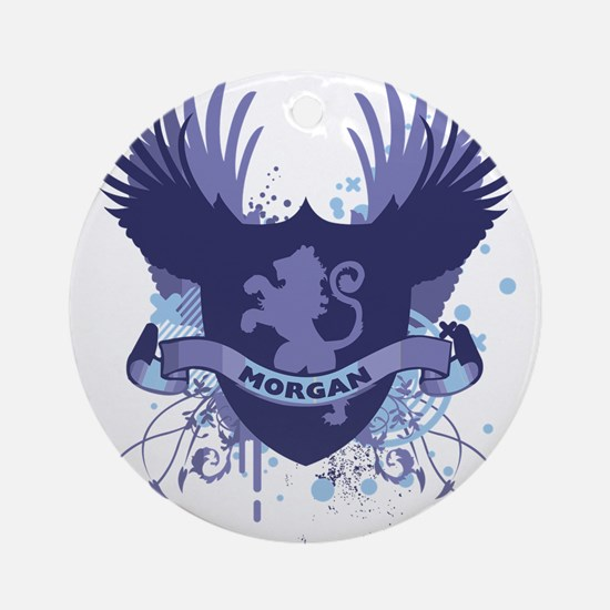 Morgan Family Crest Ornament (Round)