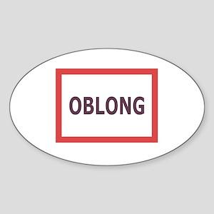 Oblong - Oval Sticker