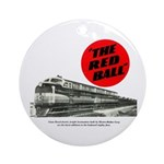 A fast freight train Ornament (Round)