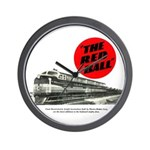 A fast freight train Wall Clock