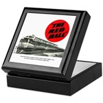 A fast freight train Keepsake Box