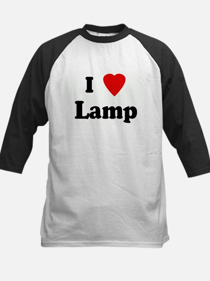 I Love Lamp Kids Baseball Jersey