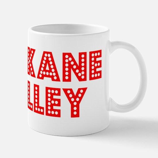 Retro Spokane Valley (Red) Mug