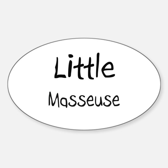 Little Masseuse Oval Decal