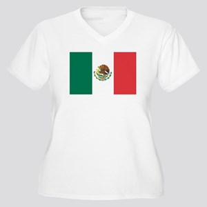 MEXICO Womes Plus-Size V-Neck T-Shirt