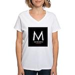 """""""M the President"""" Women's V-Neck T-Shirt"""