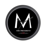 """M the President"" Wall Clock"