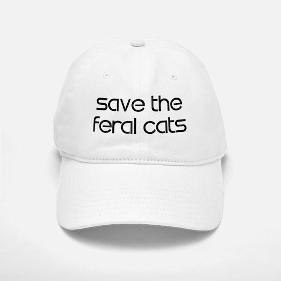 Save the Feral Cats Baseball Baseball Cap