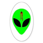Dead Alien Sticker (Oval 10 pk)