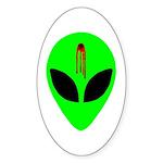 Dead Alien Sticker (Oval 50 pk)