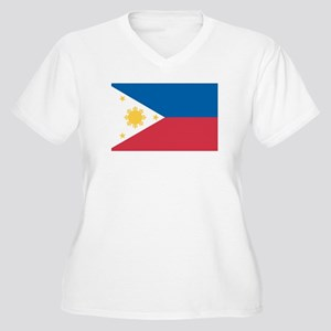 PHILIPPINES Womes Plus-Size V-Neck T-Shirt