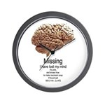 I Have Lost My Mind Wall Clock