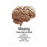 I Have Lost My Mind Rectangle Sticker 50 pk)