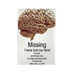 I Have Lost My Mind Rectangle Magnet (100 pack)