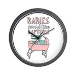 Babies Sound Like Raptors Wall Clock