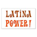 Latina Power Rectangle Sticker