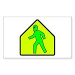 Alien Crossing Rectangle Sticker 10 pk)