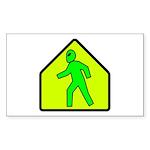 Alien Crossing Rectangle Sticker 50 pk)