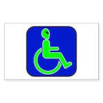 Handicapped Alien Rectangle Sticker 50 pk)