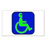 Handicapped Alien Rectangle Sticker 10 pk)