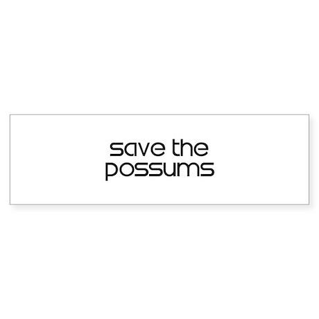 Save the Possums Bumper Sticker
