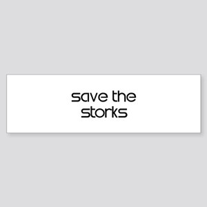 Save the Storks Bumper Sticker