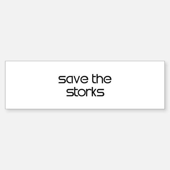 Save the Storks Bumper Bumper Stickers