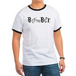 Bomber Ringer T in Black, Blue or Orange