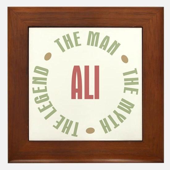 Ali Man Myth Legend Framed Tile