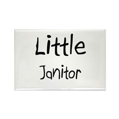 Little Janitor Rectangle Magnet