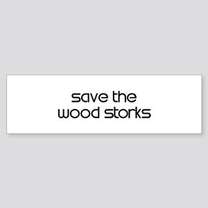 Save the Wood Storks Bumper Sticker