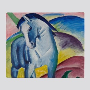 Blue Horse by Franz Marc Throw Blanket